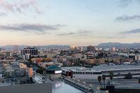 Morning sky over downtown city skyline
