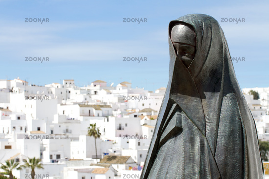 Vejer with sculpture. Andalusia