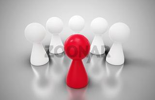 Spielfiguren Konzept - The red coach