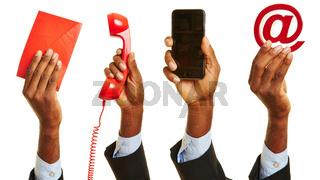 Kontakt mit dem Kundendienst