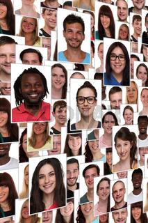 Hintergrund multikulturell jung glücklich lachen Menschen Leute Gruppe