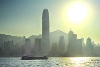 Hong Kong in a backlight