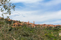 Village of san angelo in colle in tuscany