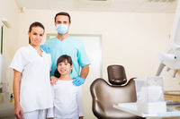 Dentist Team with a little girl
