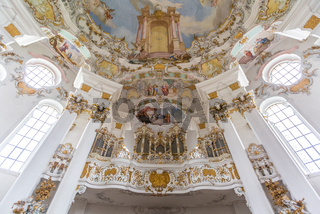 Interior of Pilgrimage Church Germany