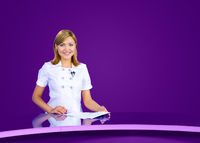 anchorwoman violet tv studio