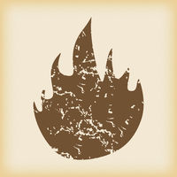 Grungy fire icon