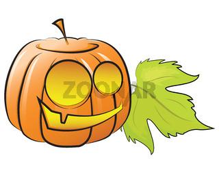 Vector pumpkin decorating for Halloween