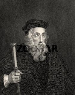John Wycliffe, 1330 - 1384, an English philosopher