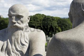 Skulptur im Vigelandpark in Oslo