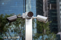 monitoring cameras on the streets of Singapore