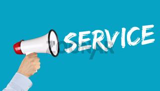 Service Kundenservice Dienstleistung Beratung Business Konzept Support aus Megafon