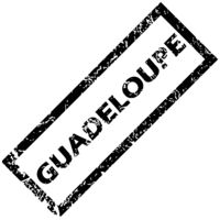 GUADELOUPE rubber stamp