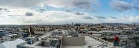 Panorama skyline of urban city in USA