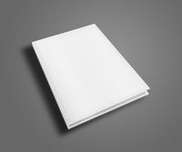 Blank book cover template.