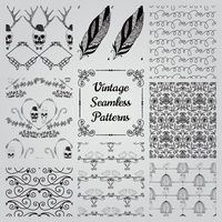 Hand Drawn Floral Seamless Patterns