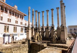 Roman Temple in old city of Cordoba, Spain