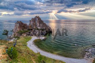 Shaman Rock, Lake Baikal, Siberia, Russia