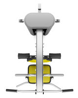 top view of multigym machine isolated on white