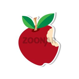 Apple Sticker Red illustration