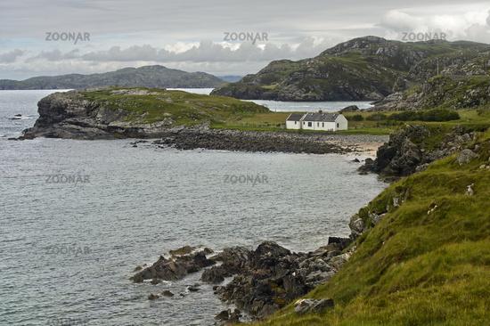 Coastline with bays, Scotland, Great Britain