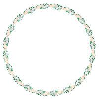 Floral Wreath Circle