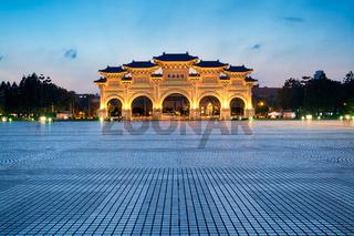 Libery Square at night. Taipei - Taiwan.