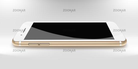 Modern phone realistic smartphone.