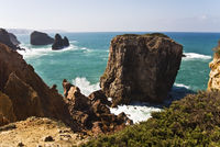 Rocky coast in the Algarve / Portugal