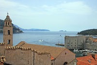View from the city wall in Dubrovnik to the monastery