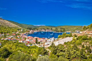 Island of Vis bay scenic view