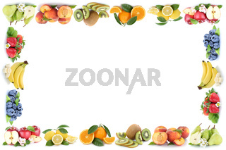 Früchte Apfel Orange Äpfel Orangen Obst Frucht Rahmen Textfreiraum Copyspace