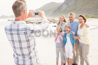 Multi generation family taking a picture
