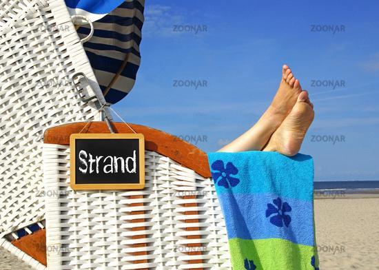 Strandkorb at the sea