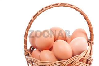 Wielkanocna Swieconka and eggs in wicker basket