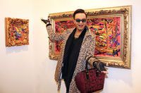 Designer Julian F.M. Stöckel attends a vernissage