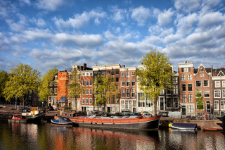 City of Amsterdam in Netherlands