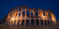 Rome, Italy: Colosseum, Flavian Amphitheatre, in the sunset