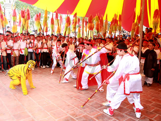 people attend traditional festival