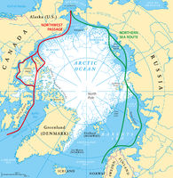 Arctic Ocean Sea Routes Map