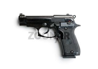 black handgun