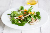 Sommer salad with rocket salad