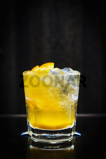 screwdriver classic orange and vodka cocktail drink