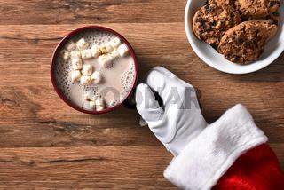 Santa With Mug of Cocoa