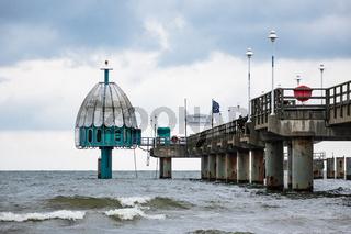 Seebrücke in Zinnowitz auf der Insel Usedom