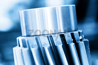 Heavy industrial element, screw. Industry, close-up