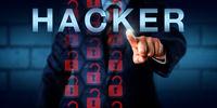 Security Expert Touching HACKER Onscreen