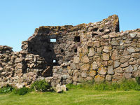 Part of Hammershus ruin Bornholm