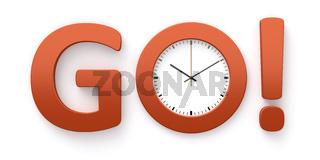 clock go