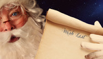 Closeup of Santa Clause holding scroll